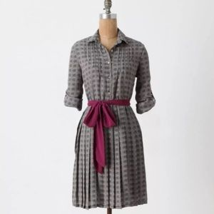 Anthropologie Isabella Sinclair pleated shirtdress